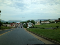 Driving into Luray